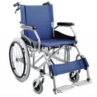 Semi-Lightweight Wheelchair Blue 7041