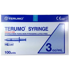 Terumo Syringes 3cc Slip Tip 100's